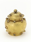 view Covered jar of gold inlaid with gems digital asset number 1