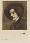 """view After J.M. Whistler's """"Self Portrait with a Hat"""" digital asset number 1"""