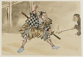 view Scene from a Kabuki performance, one of 107 drawings digital asset number 1