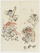 view Two skecthes of dancers from a group of 107 drawings digital asset number 1