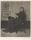 """view After Whistler's """"Portrait of Thomas Carlyle: Arrangement in Grey and Black No. 2"""" digital asset number 1"""