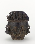 view Tomb jar with figures of musicians digital asset number 1