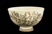 view Tea bowl with design of autumn grasses digital asset number 1