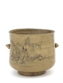 view Tea-ceremony water jar in style of Kyoto ware digital asset number 1