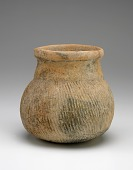view Vessel with round bottom and overall paddle-impressed texture digital asset number 1