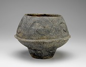 view Vessel with applied flange, incised and impressed decoration digital asset number 1