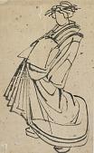 view Sketch of a courtesan digital asset number 1