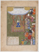 view Ulugh Beg with ladies of his harem and retainers digital asset number 1