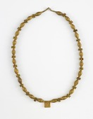 view Gold necklace of biconical and disc-shaped beads digital asset number 1
