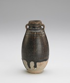 view Bottle with two vertical ring handles and incised decoration digital asset number 1