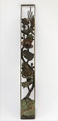 view Carved openwork panel with hibiscus and long-tailed bird digital asset number 1