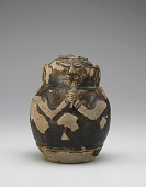 view Gourd-shaped bottle in the form of a bearded ascetic holding a lotus digital asset number 1