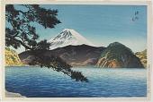 view Mt. Fuji from Mitohama Beach, Izu Province digital asset number 1