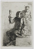 view The Dutchman holding a glass, 2nd state, only impression digital asset number 1