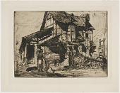view The Unsafe Tenement. One of the Twelve Etchings from Nature. (The French Set) digital asset number 1