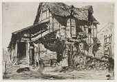 view The Unsafe Tenement. One of the Twelve Etchings from Nature (The French Set) digital asset number 1