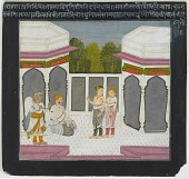 view A King Receives Visitors, folio from a Satsai of Biharilal digital asset number 1