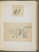 view Two Trial Sketches; A. Grand Rue, Dieppe; B. An Interior digital asset number 1
