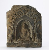 view Tablet with seated figure of Gautama Buddha digital asset number 1