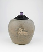 view Jar with design of deer holding lingzhi fungus digital asset number 1