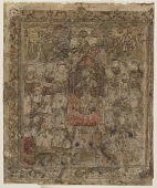 view Folio from a <em>Shahnama</em> (Book of kings) by Firdawsi (d.1020); recto: A ruler enthroned, left-hand half of a double-page; verso: text digital asset number 1