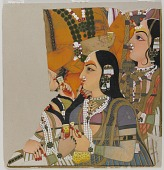 view Fragment from Maharaja Pratap Singh with ladies of the royal harem digital asset number 1