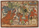 view Abhimanyu Hunting in a Forest, from a Mahabharata digital asset number 1