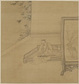 view Seated man holding a sword across his knees digital asset number 1
