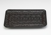 view Carved lacquer rectangular tray digital asset number 1