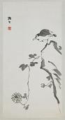 view Bird, Rock, and Chrysanthemums digital asset number 1
