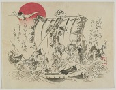 view Seven Gods of Fortune in a Treasure Ship digital asset number 1