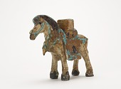 view Figure of pack horse bearing Buddhist scriptures digital asset number 1