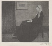 view After Whistler's <i>Arrangement in Grey and Black: Portrait of the Painter's Mother</i> digital asset number 1