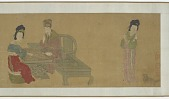 view Emperor Minghuang and Consort Yang Playing Weiqi digital asset number 1