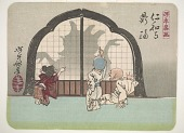 view Shadow-dancing at Ninwa-ji temple, from the series Sketches by Yoshitoshi digital asset number 1