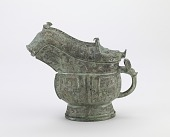 view Lidded ritual wine ewer (<i>guang</i>) with dragons, elephants, rabbits, birds, and fish digital asset number 1
