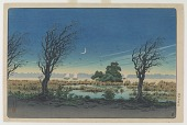 view Banks Of the Sumida River Under Crescent Moon digital asset number 1