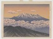 view Sunset At Mt. Ontake, Kiso Province digital asset number 1