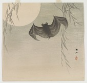 view Bat, willow and full moon digital asset number 1