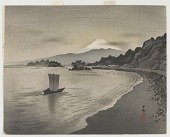 view Evening scene with sail boats and Mount Fuji digital asset number 1
