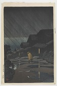 view Night Rain, Teradomari, from the series Souvenirs of Travels, Second Collection digital asset number 1