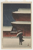 view Zojoji in the Snow, from the series Souvenirs of Travels, Second Collection digital asset number 1
