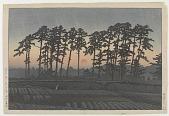 view Ichinokura, Ikegami (Sunset), from the series Twenty Views of Tokyo digital asset number 1