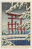 view Snow at Miyajima digital asset number 1