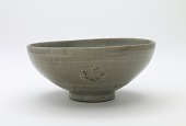 view Bowl with inlaid design of chrysanthemum and four lichee clusters digital asset number 1