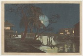 view Tea House at Imadobashi by Moonlight digital asset number 1
