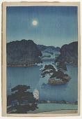 view Moonlit night (Daisensui pond), from the series The Mitsubishi villa at Fukagawa digital asset number 1