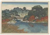 view Autumn garden, from the series The Mitsubishi villa at Fukagawa digital asset number 1
