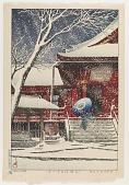 view Snow at Kiyomizu hall, Ueno digital asset number 1