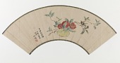 view Folding fan with painting of persimmons digital asset number 1